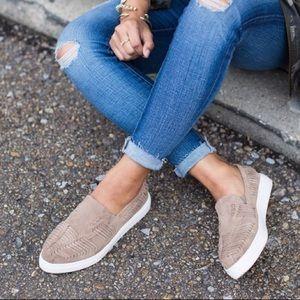 Sole Society Slip-On Suede Platform Sneaker